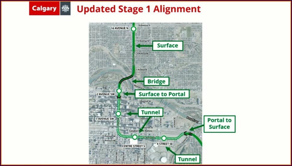 Calgary C Train Green Line Map