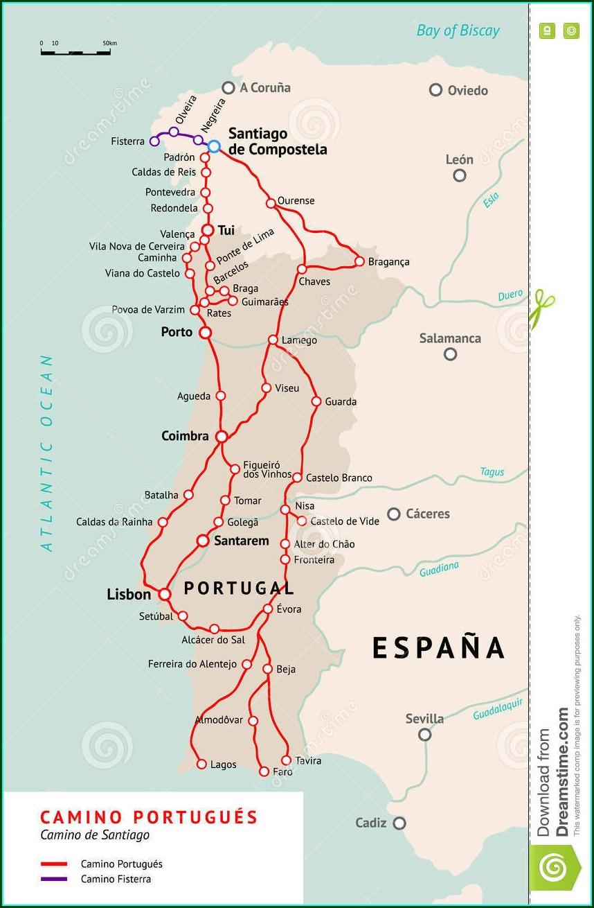 Camino De Santiago Pilgrimage Map