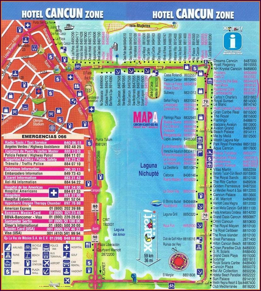Cancun Bus Routes Map