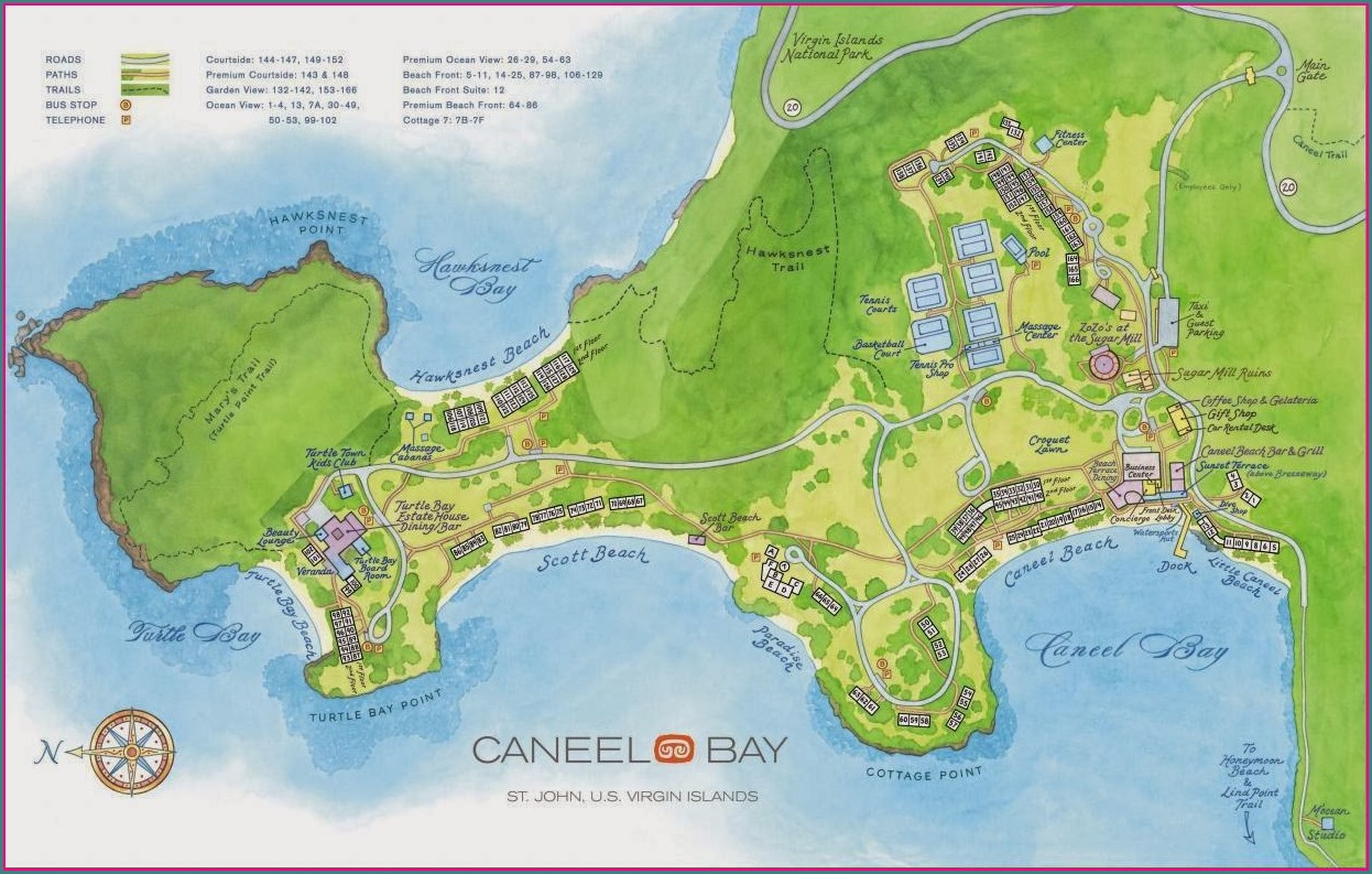 Caneel Bay Room Map