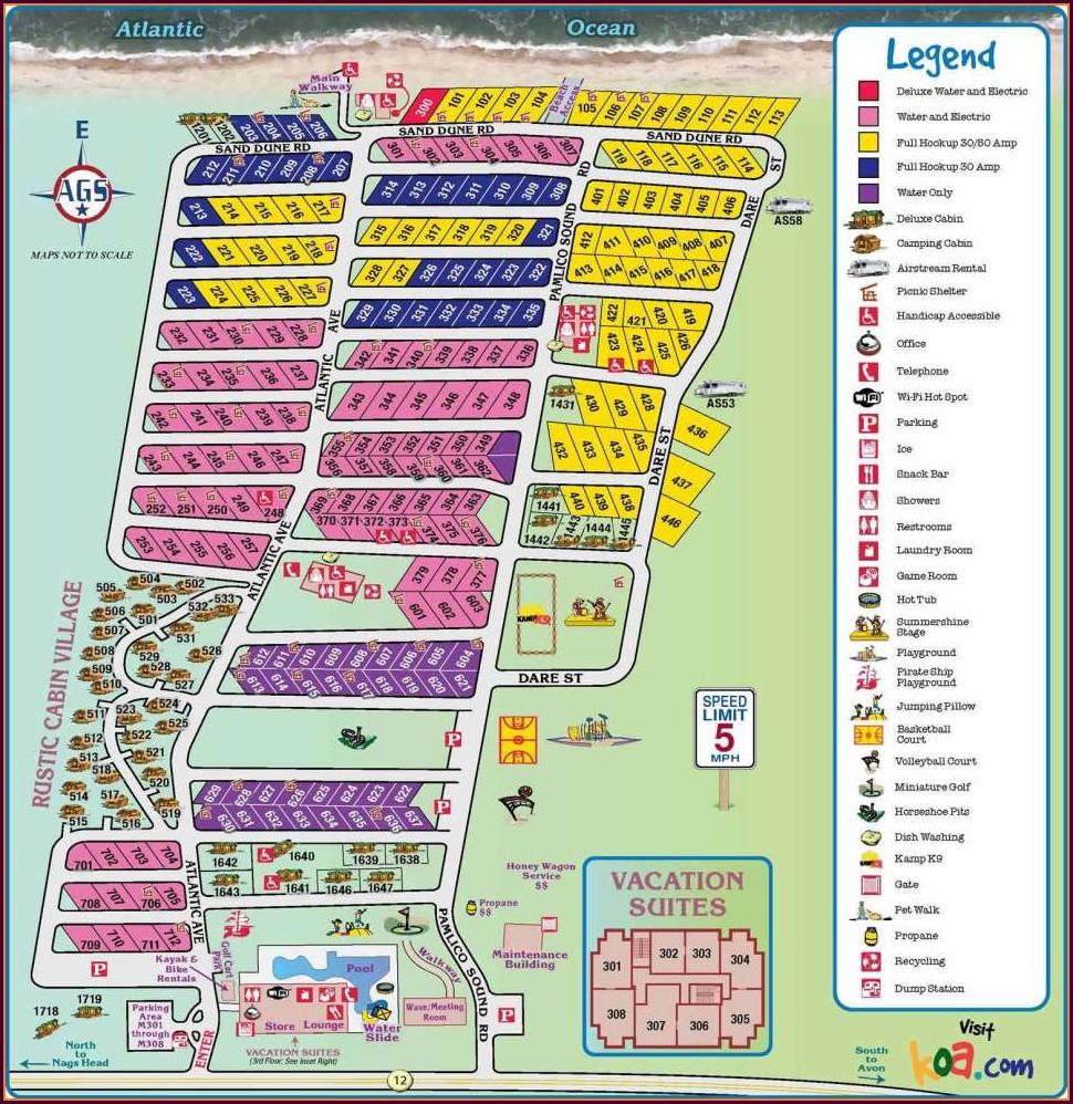 Cape Hatteras Koa Campground Map