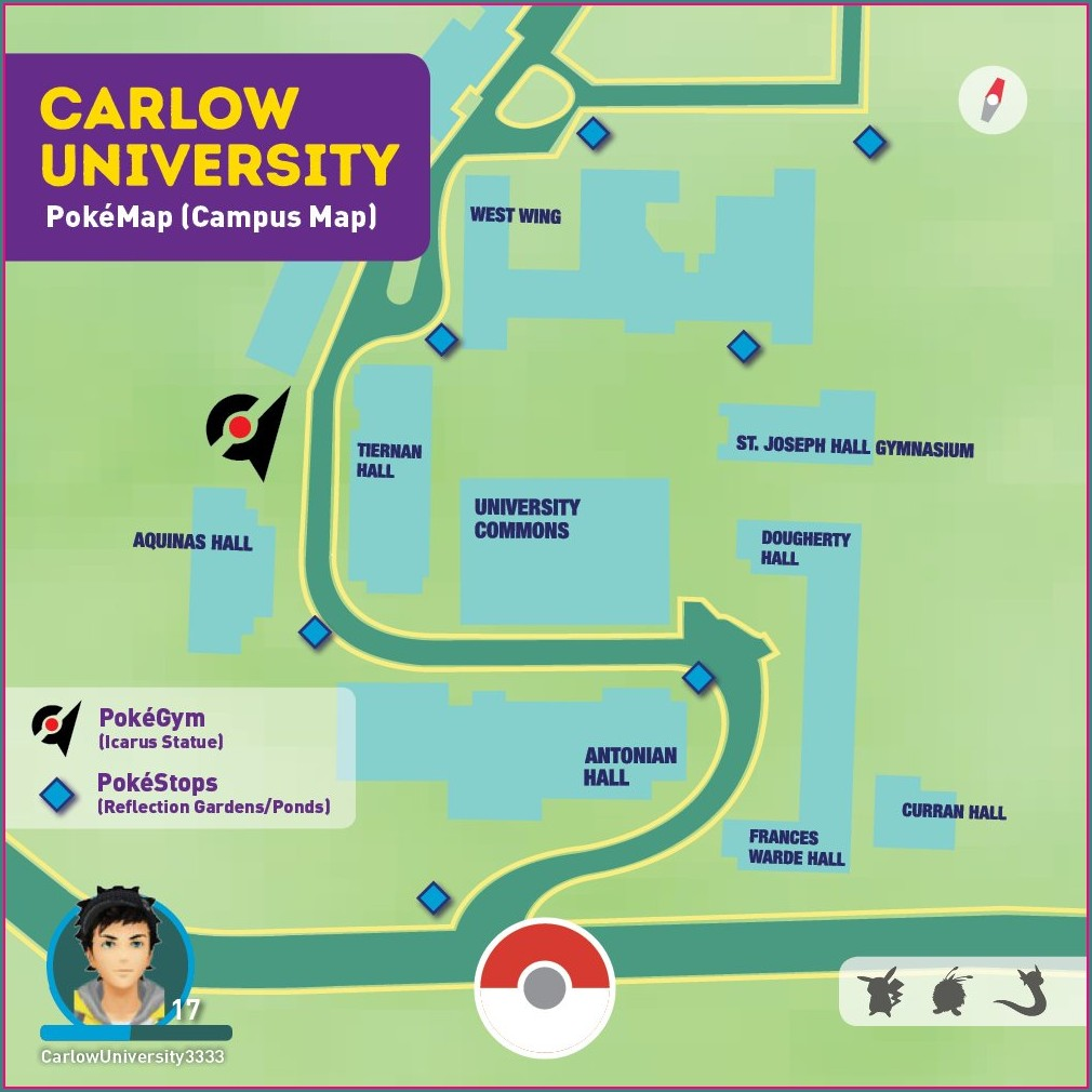 Carlow University Campus Map