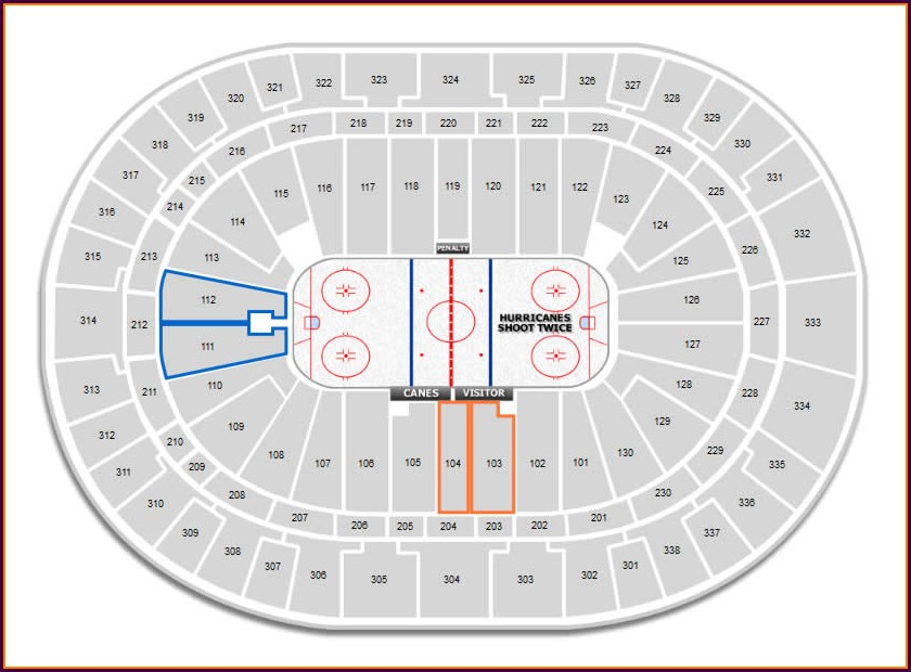 Carolina Hurricanes Seating Map