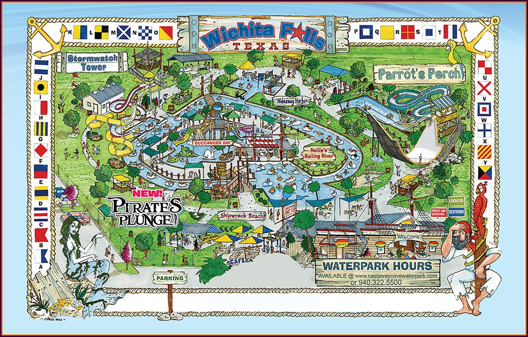 Castaway Bay Waterpark Map