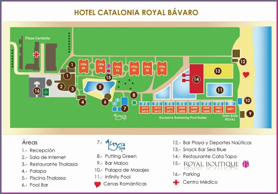 Catalonia Royal Bavaro Punta Cana Resort Map
