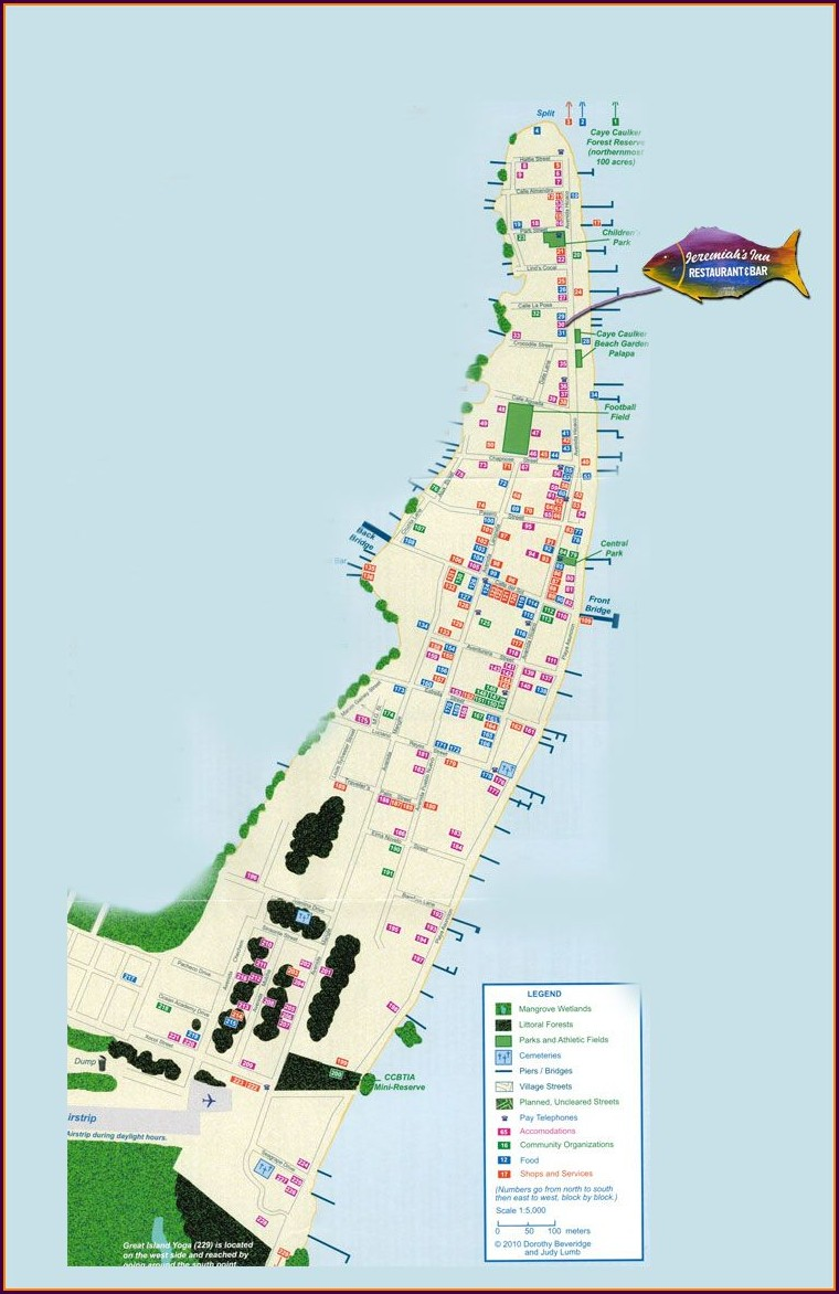 Caye Caulker Belize Map
