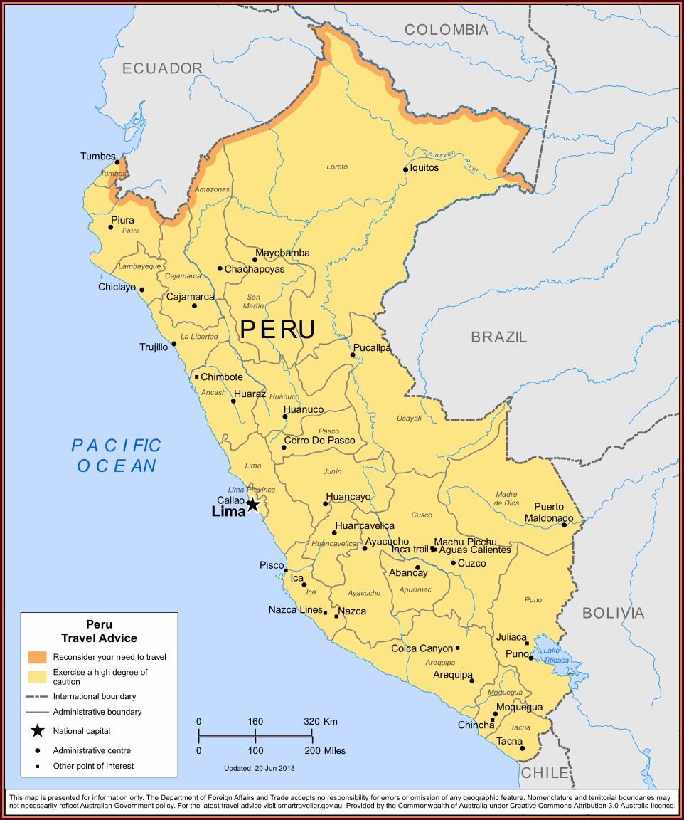 Cdc Peru Malaria Map