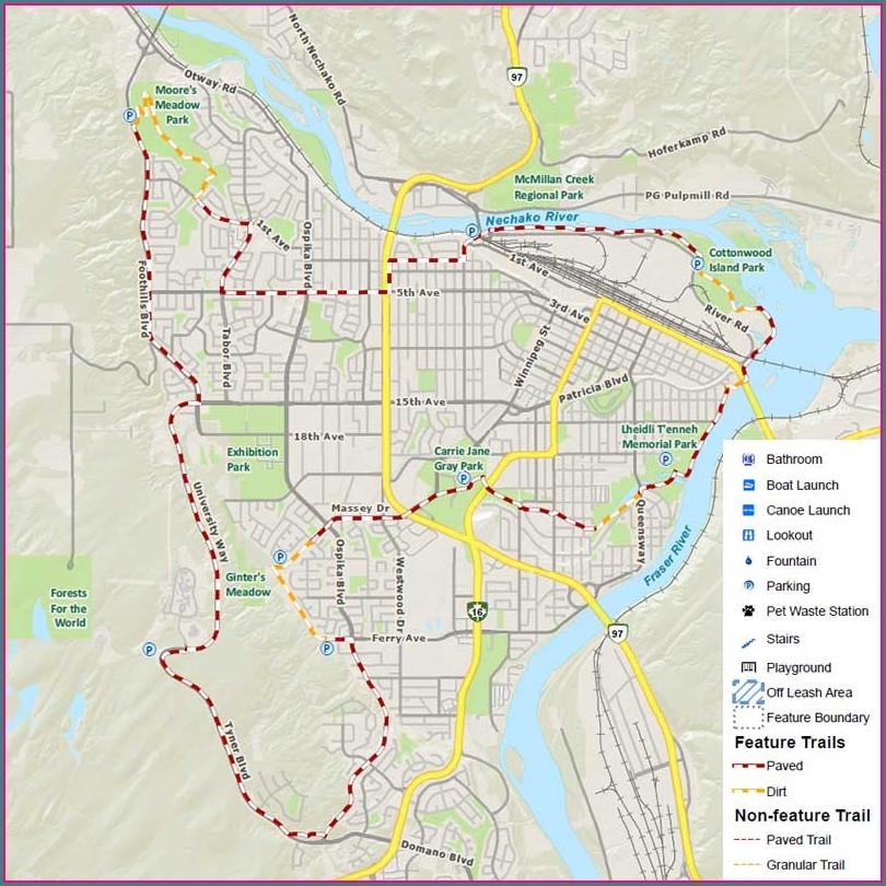 Centennial Greenway Trail Map