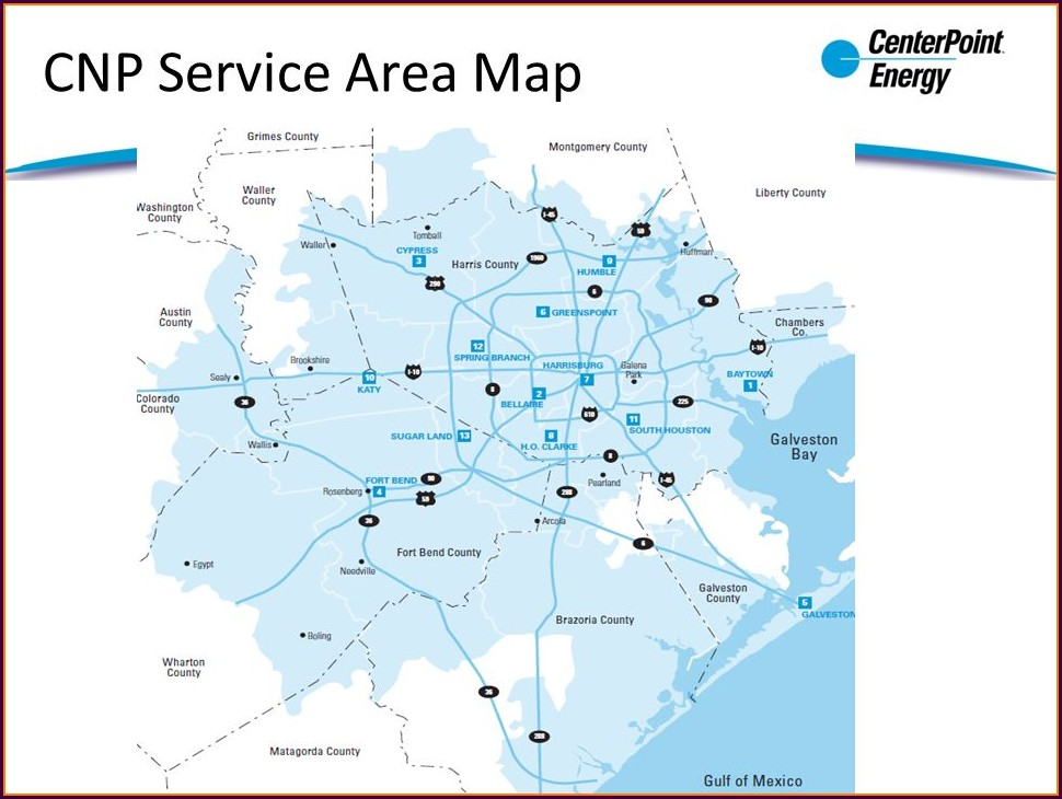 Centerpoint Energy Service Map