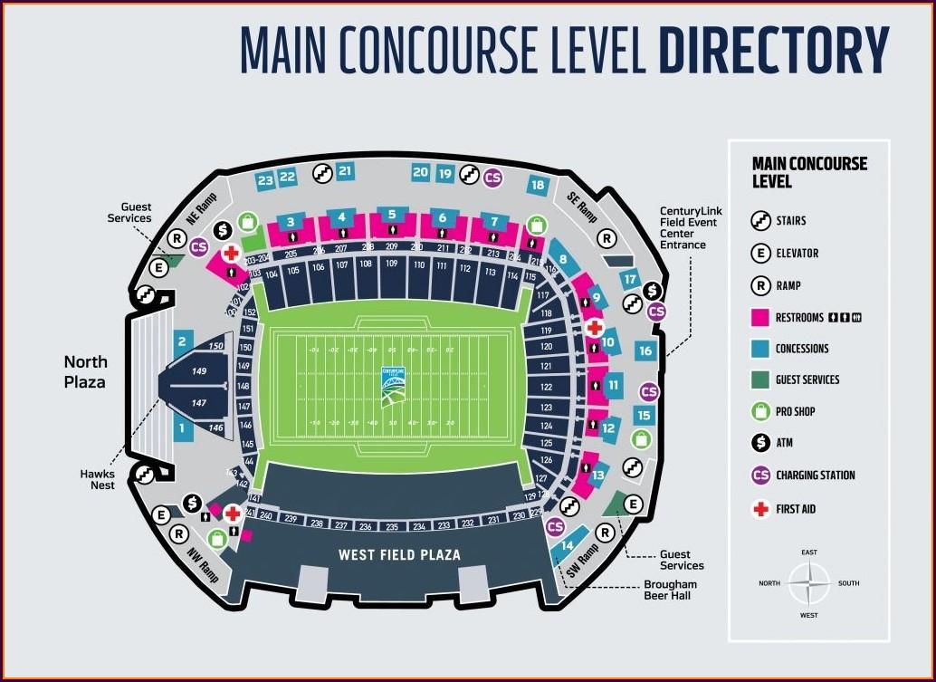 Centurylink Sports Complex Map