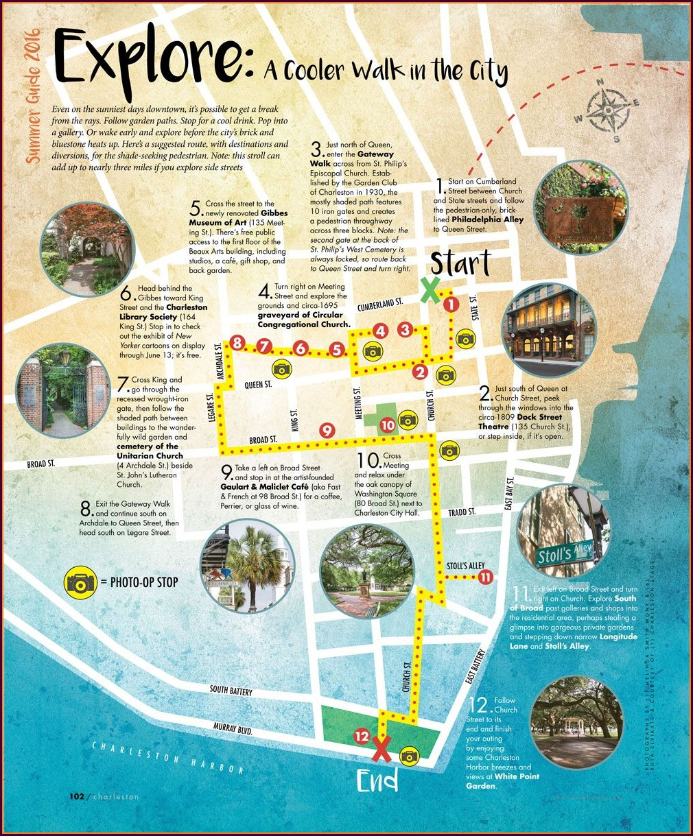 Charleston Sc Sightseeing Map