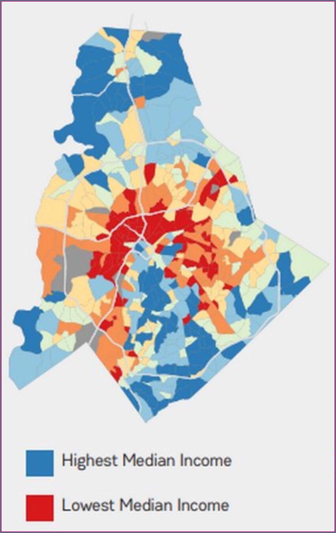 Charlotte Nc Demographics Map