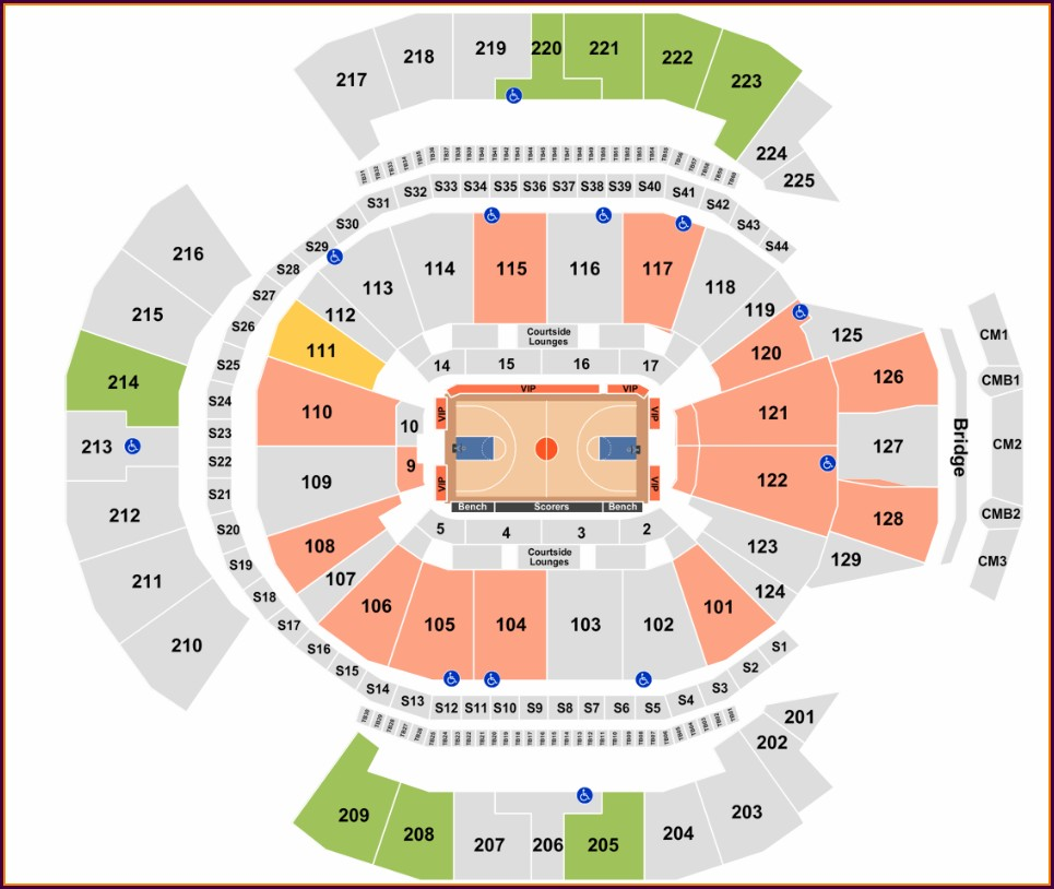 Chase Field Concert Seating Map