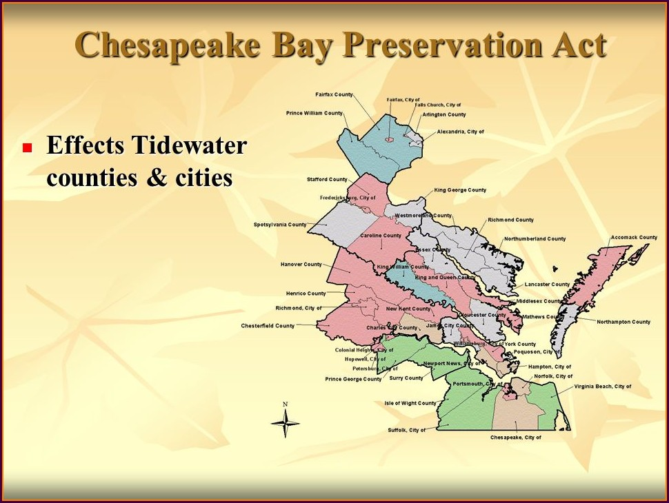 Chesapeake Bay Preservation Act Map