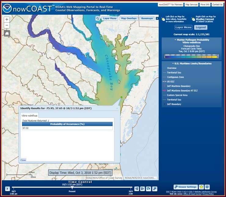 Chesapeake Bay Salinity Map Noaa