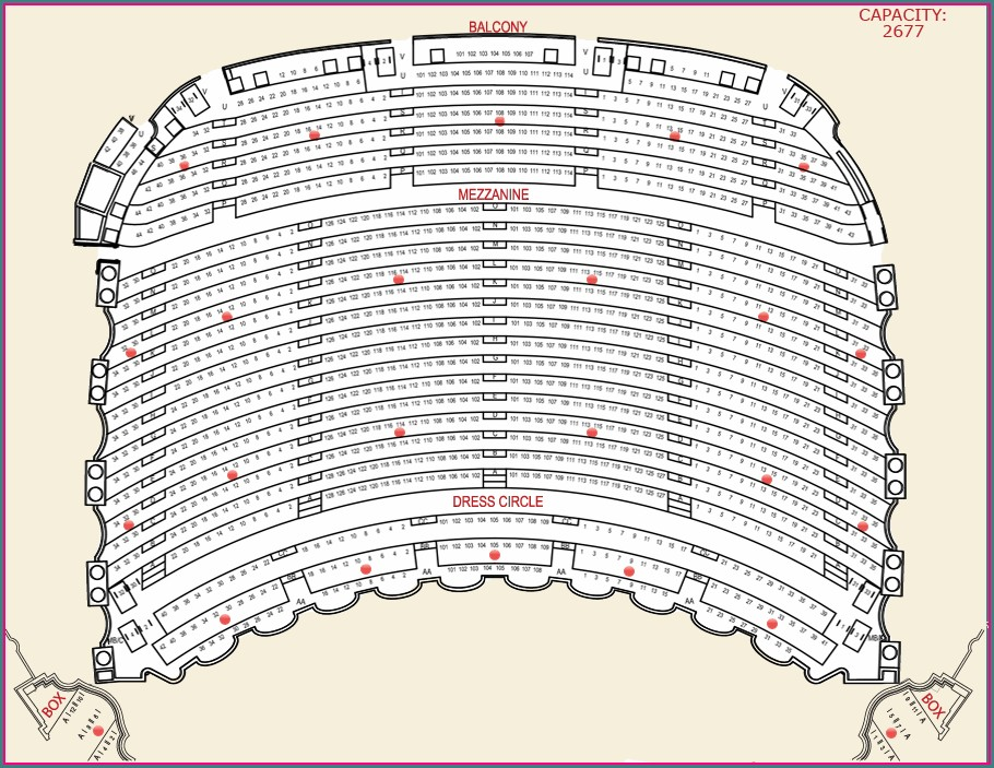 Citizens Bank Opera House Seat Map