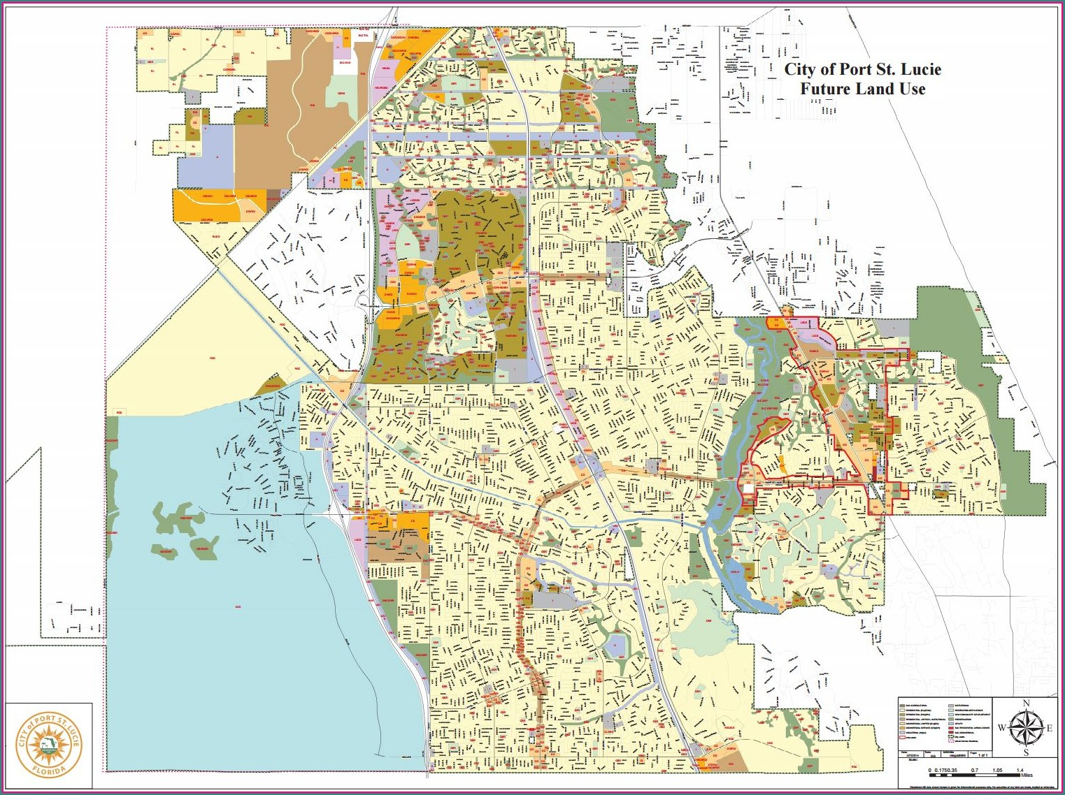 City Of Port St Lucie Zoning Map