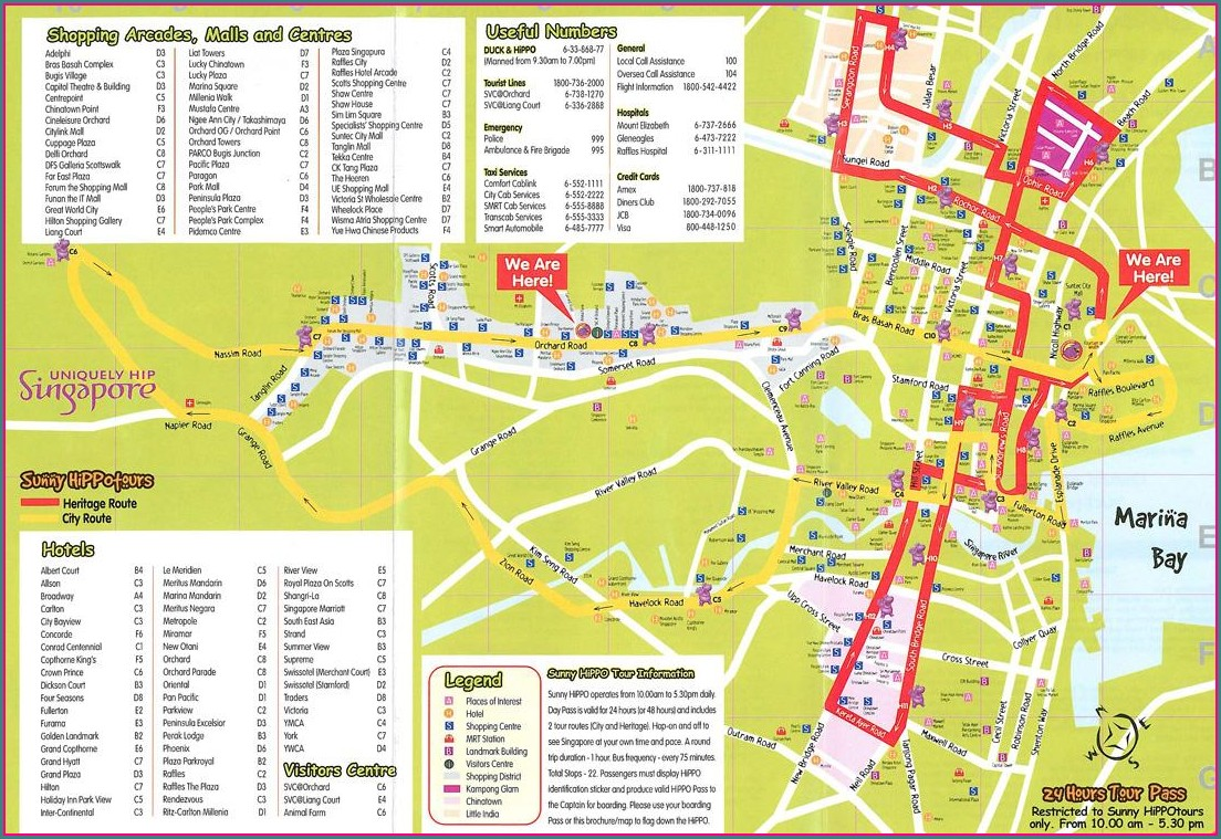 City Sightseeing Singapore Map