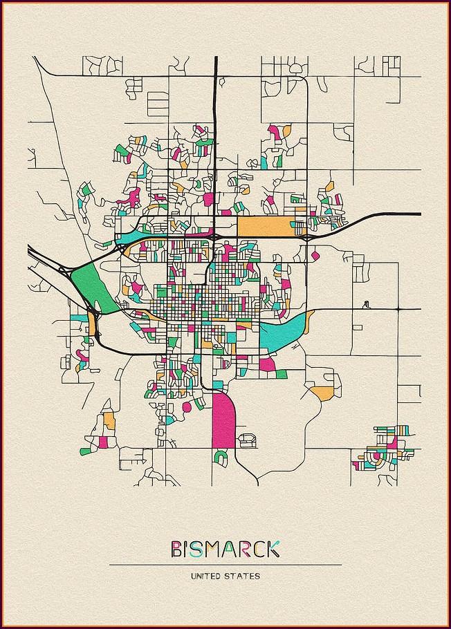 City Street Map Of Bismarck North Dakota