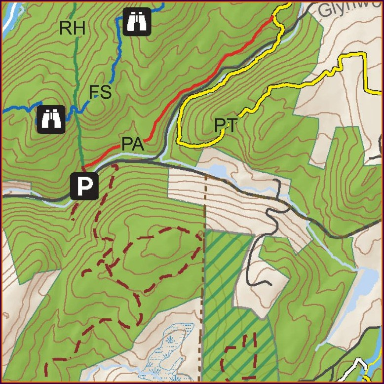 Clarence Fahnestock State Park Trail Map