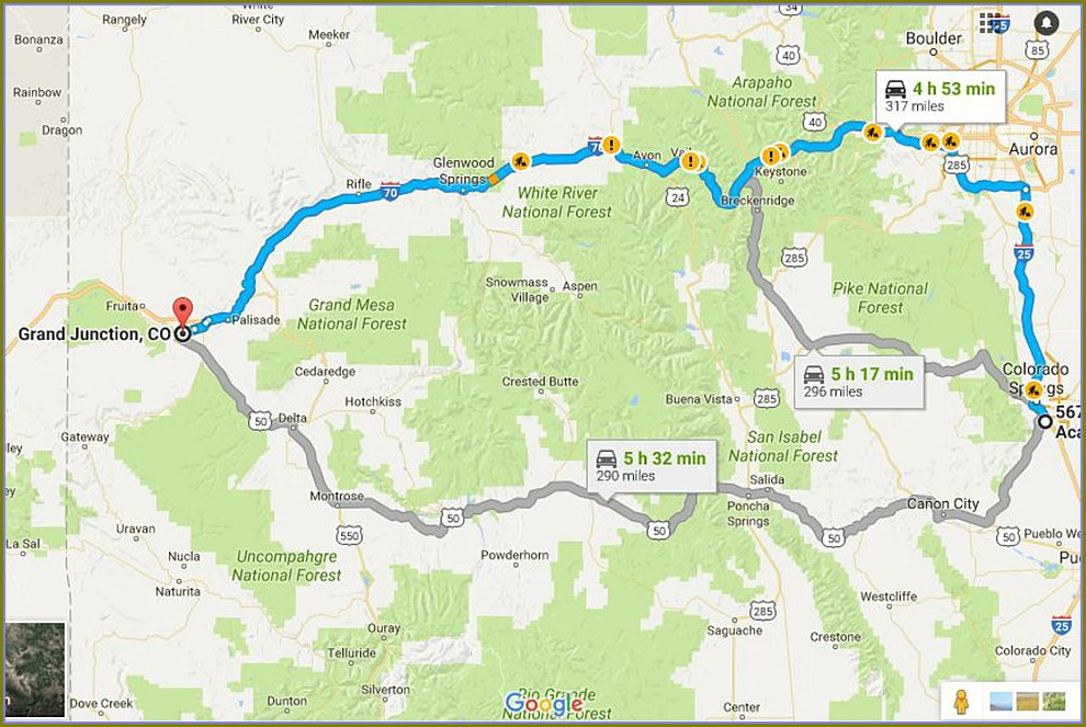 Colorado Springs Truck Route Map