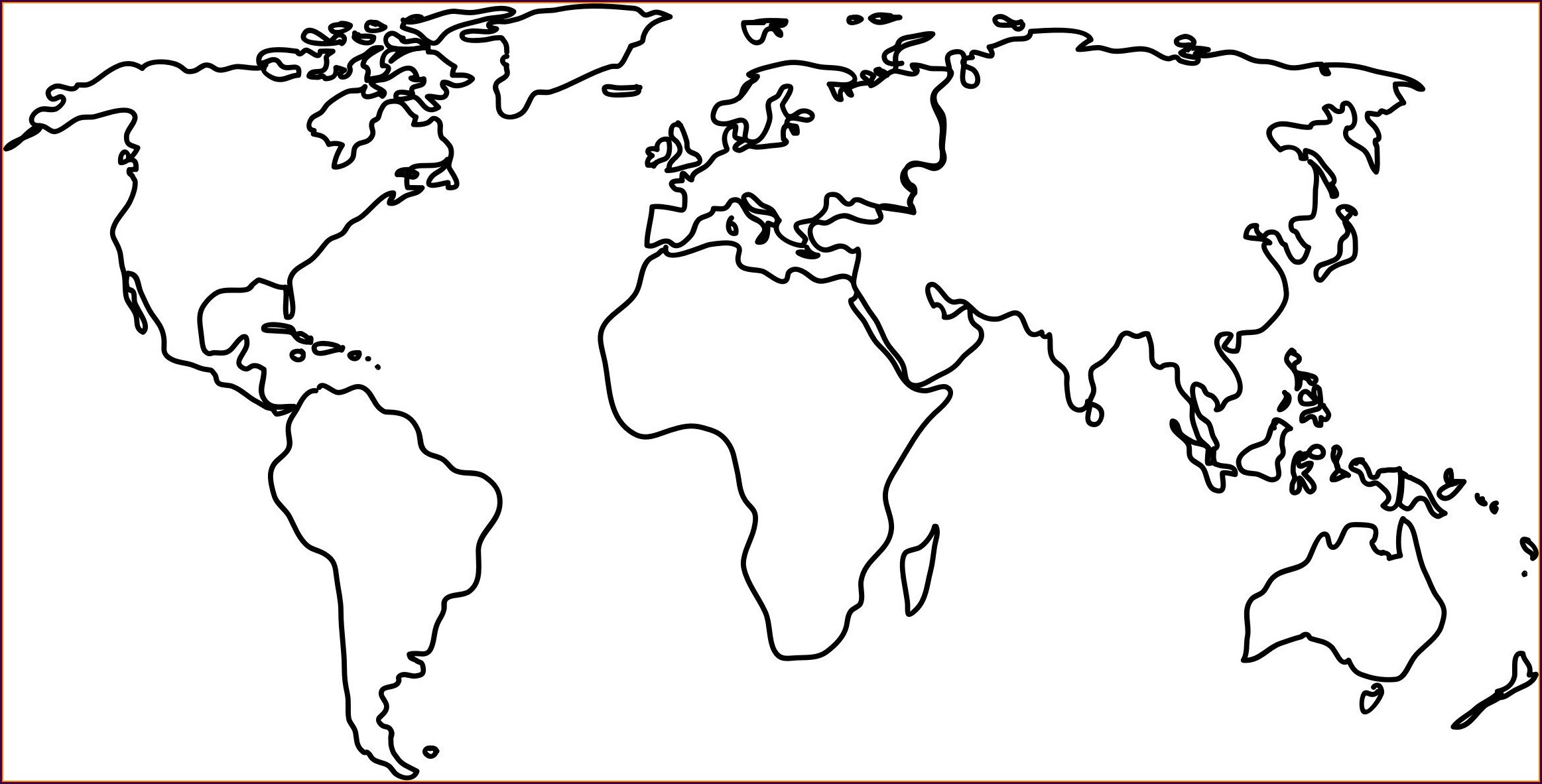 Coloring Printable World Map For Kids