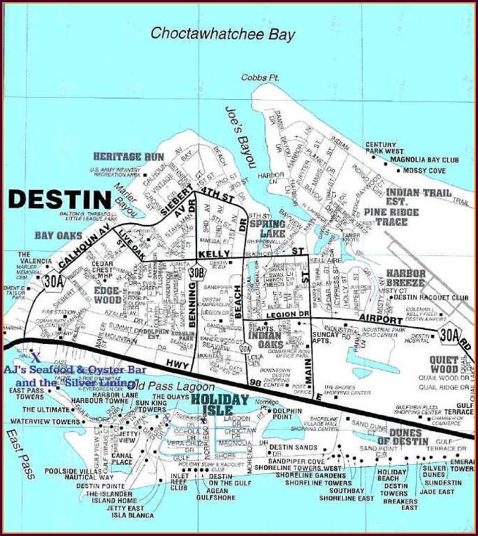 Condos On Okaloosa Island Map