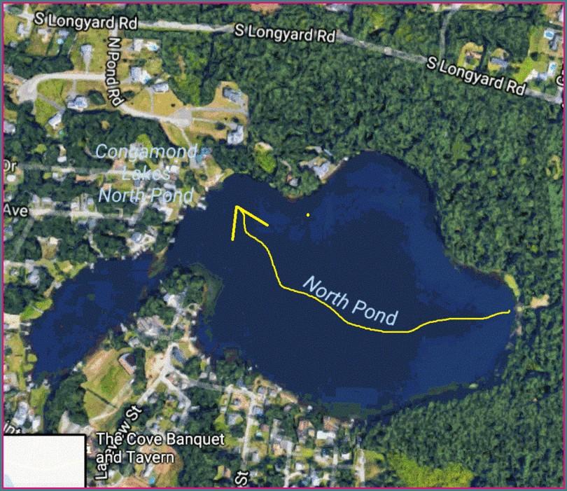 Congamond Lake Depth Map