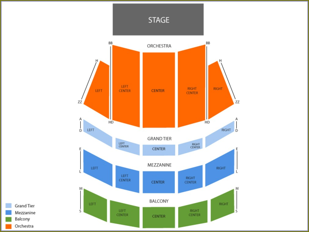 Copley Symphony Hall Seating Map