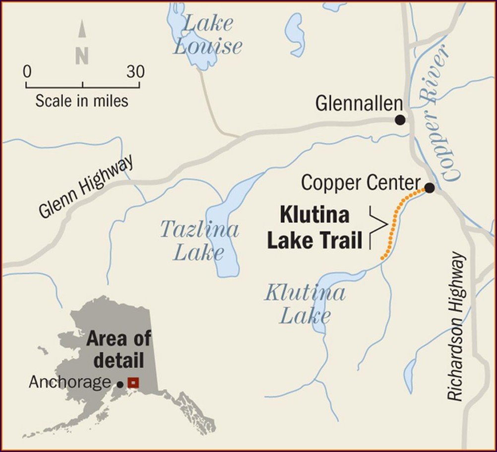 Copper River Valley Map
