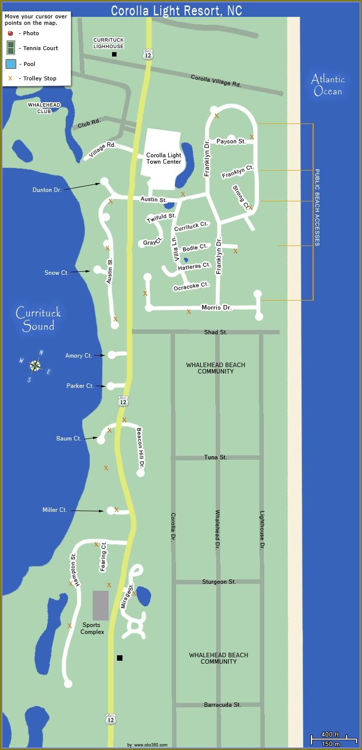 Corolla Light Resort Property Map