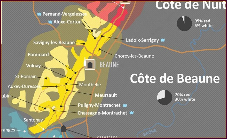Cote De Beaune Map Wine Folly