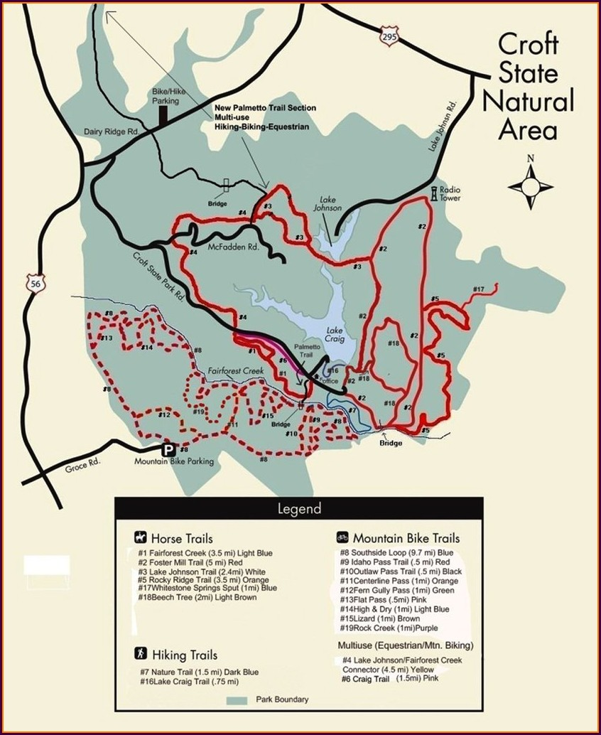 Croft State Park Trail Map