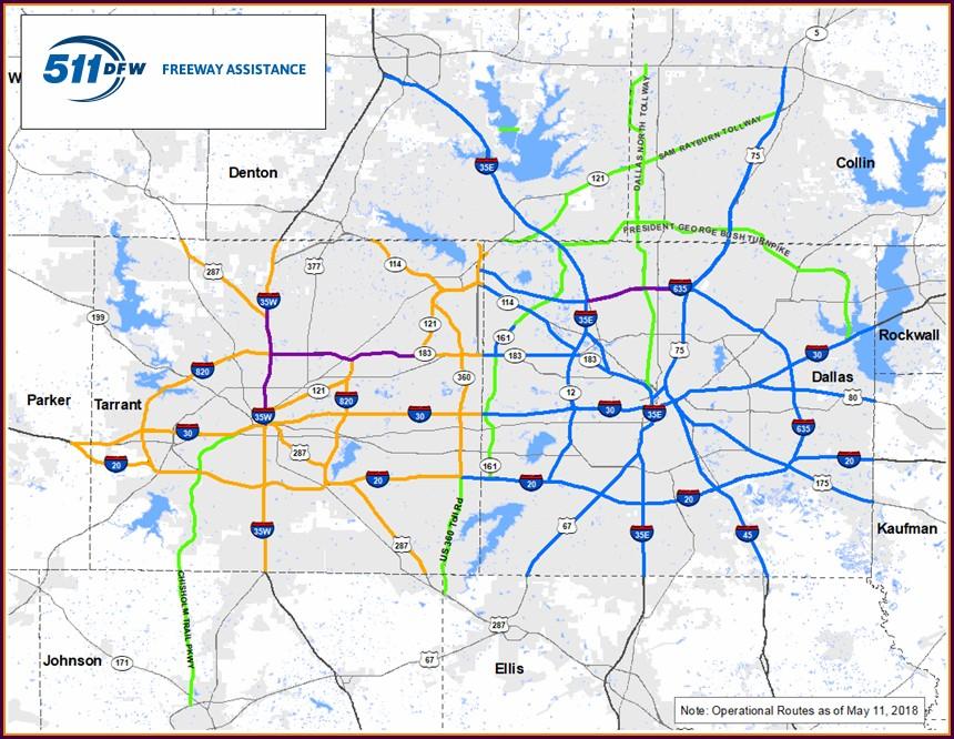 Dallas Fort Worth Toll Roads Map