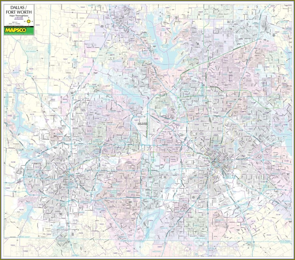 Dallas Fort Worth Wall Map