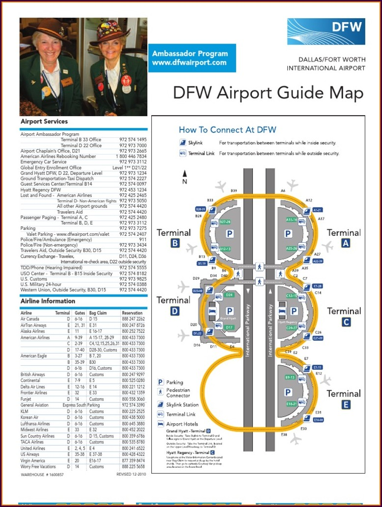 Dallas Fw Airport Map