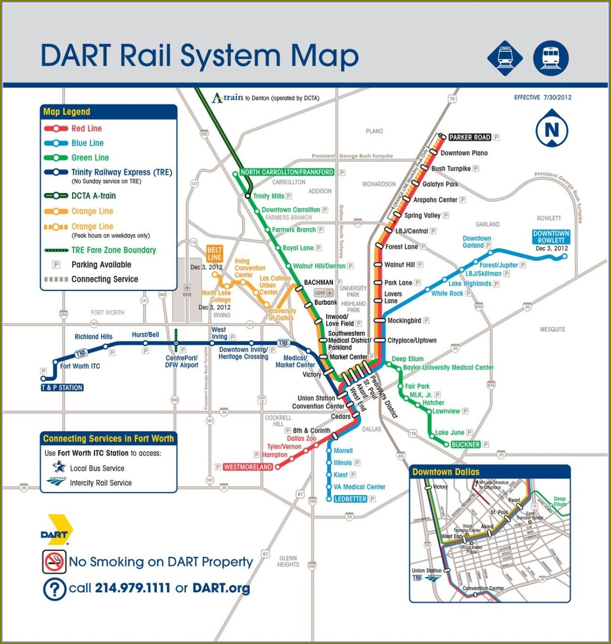 Dart Maps Dallas Texas