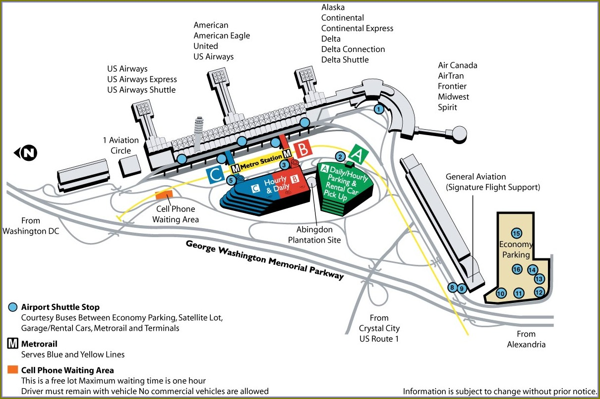 Dca Long Term Parking Map