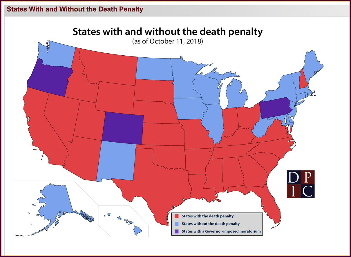 Death Penalty Map 2018