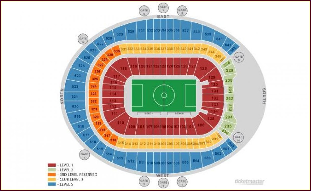 Denver Broncos Seat Map