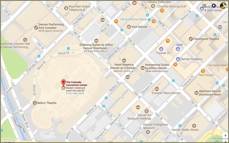 Denver Convention Center Hotels Map