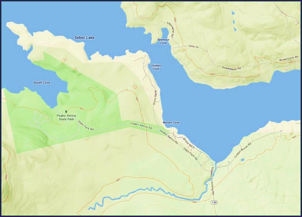 Depth Map Of Sebec Lake Maine