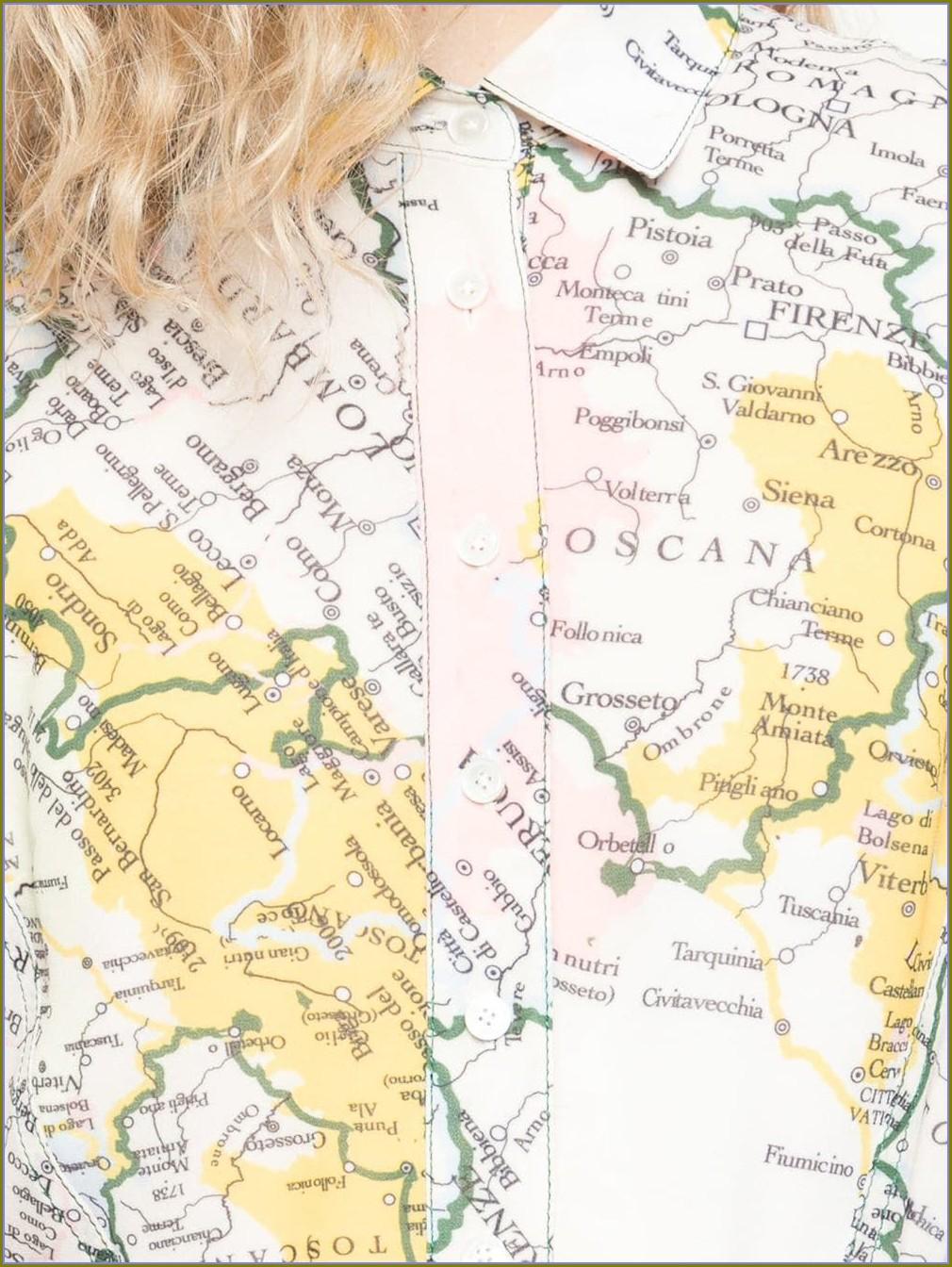 Derek Lam 10 Crosby Map Dress