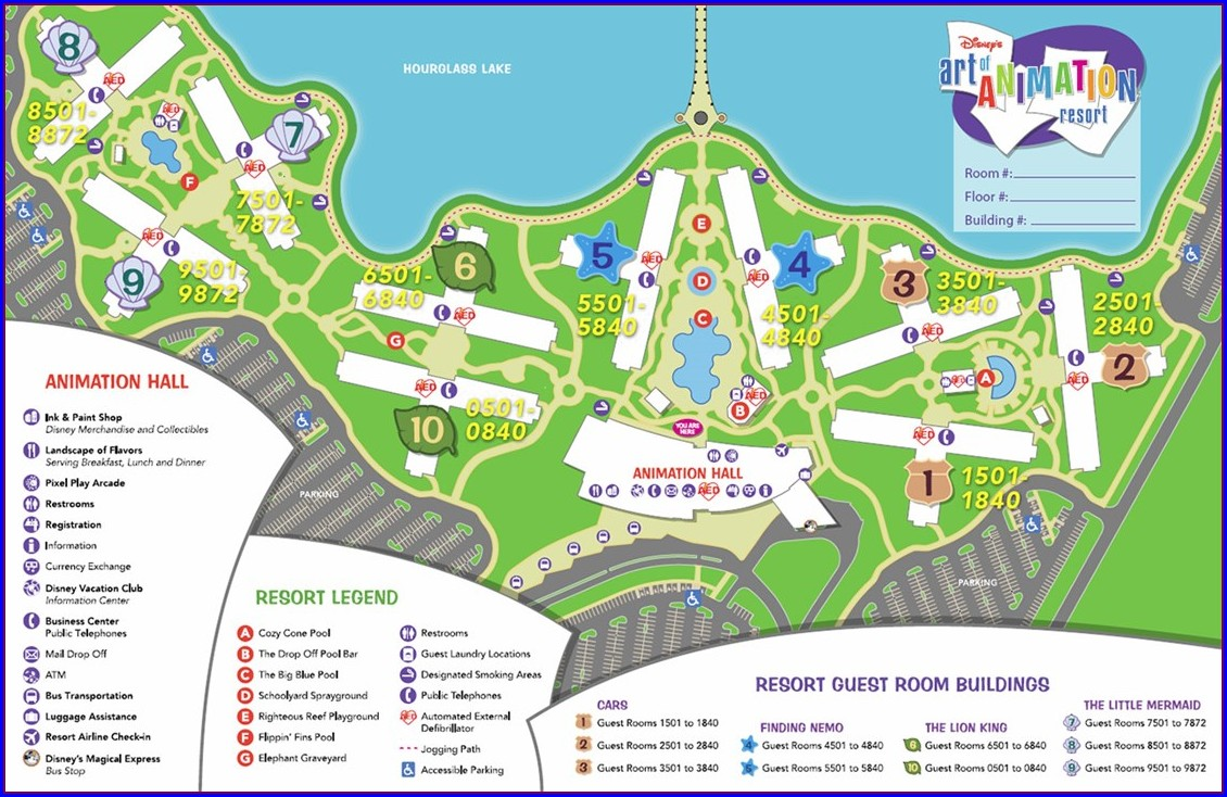 Disney Art Of Animation Resort Map