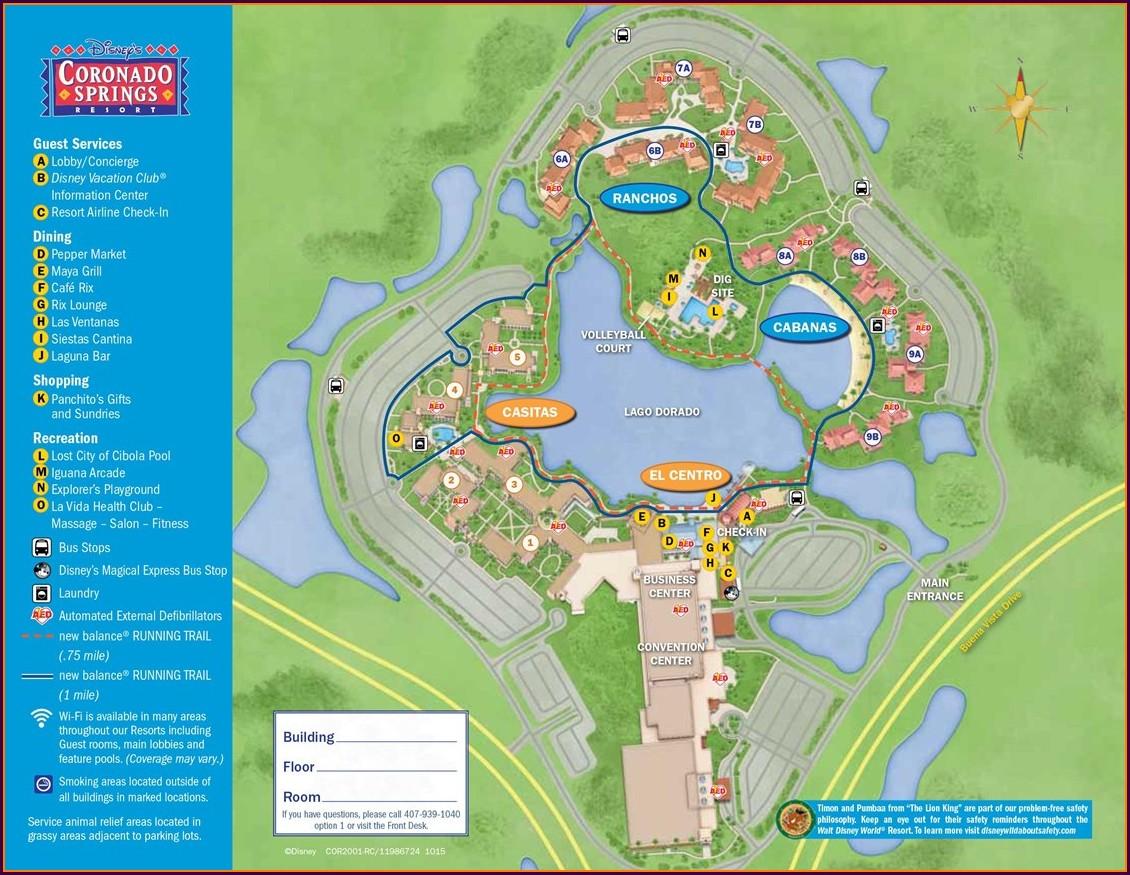 Disney Spring Hotel Map