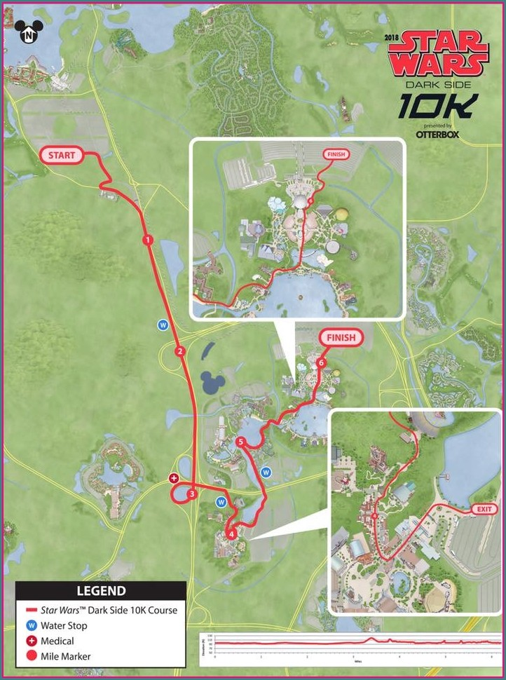 Disney Star Wars Half Marathon Map