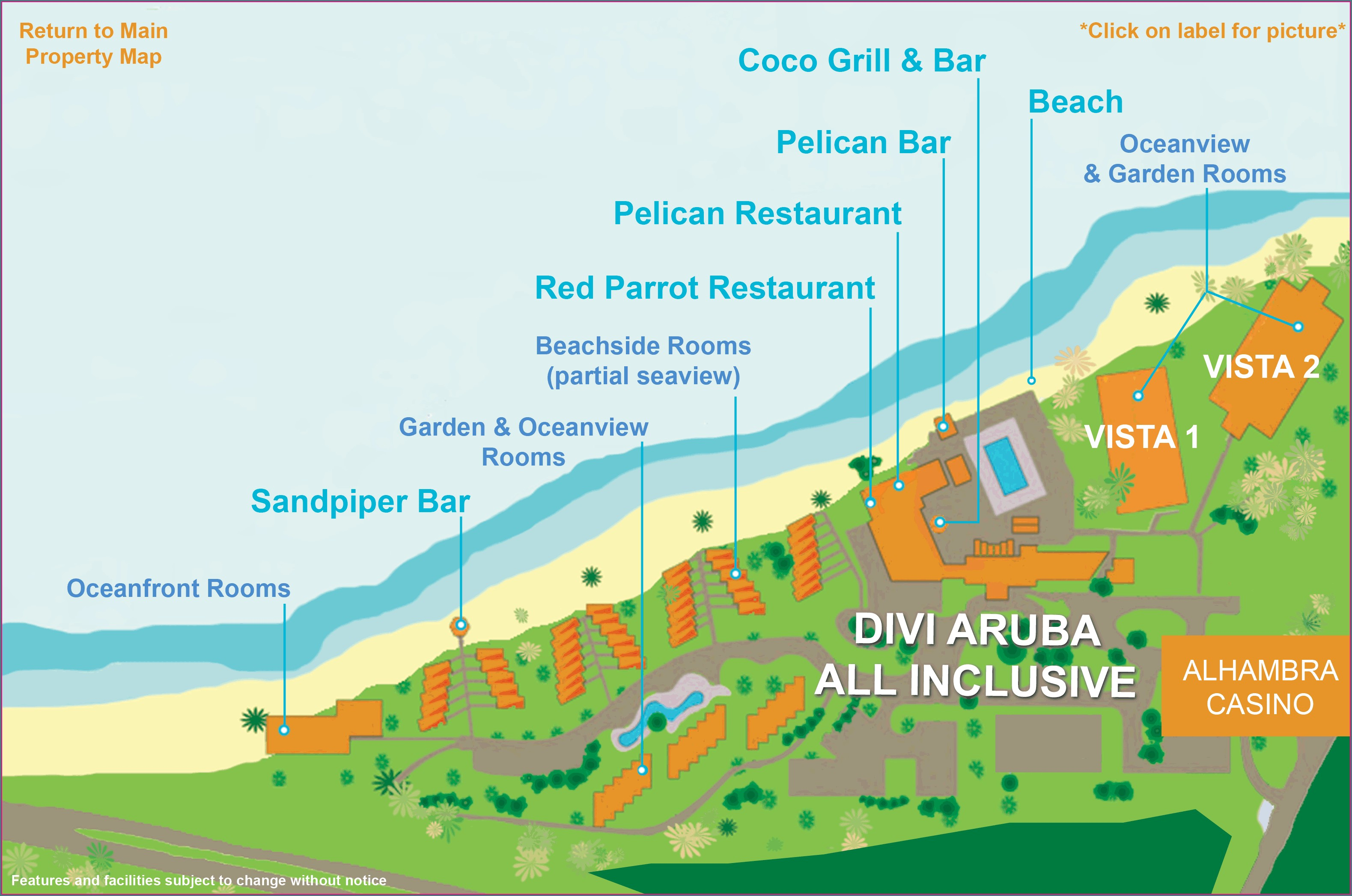 Divi Dutch Village Map