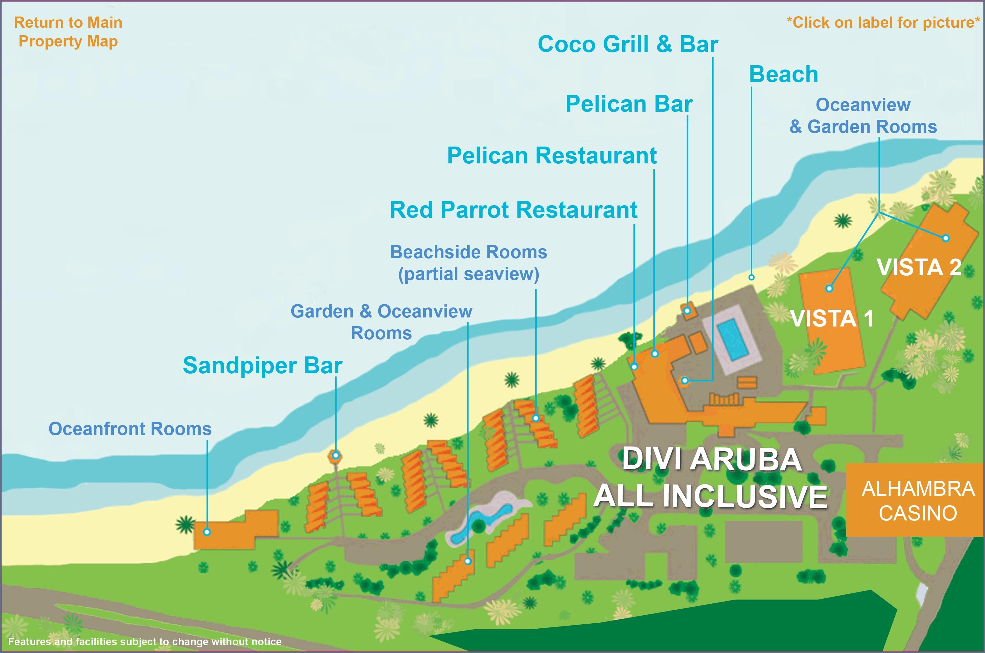 Divi Dutch Village Map