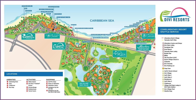 Divi Dutch Village Resort Map