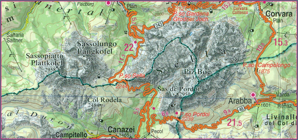 Dolomites Hiking Map Pdf